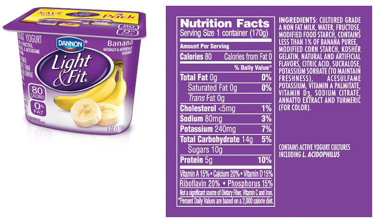 Dannon Light And Fit Greek Nutrition Label Nutrition Ftempo